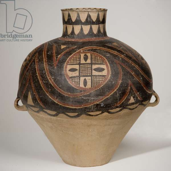 Painted pot (hu), Majiayao Culture (formerly attributed to Yangshao Culture), Banshan Phase, 2650-2350 BC (pottery)
