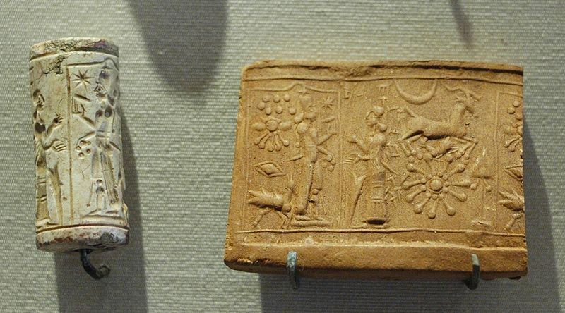800px-Cylinder_seal_Shamash_Louvre_AO9132